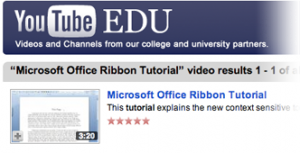 Youtube Education - Microsoft Office Ribbon Tutorial